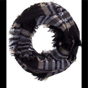 Black & Tan plaid infinity scarf